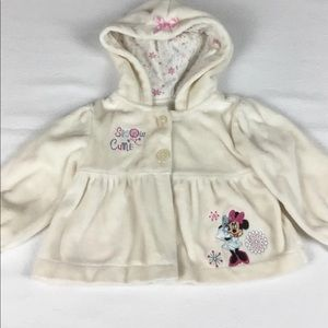 DISNEY BABY HOODED JACKET. SIZE 6-9 MONTHS